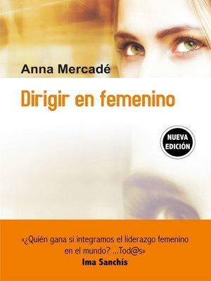 cover image of Dirigir en femenino