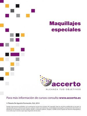 cover image of Maquillajes especiales
