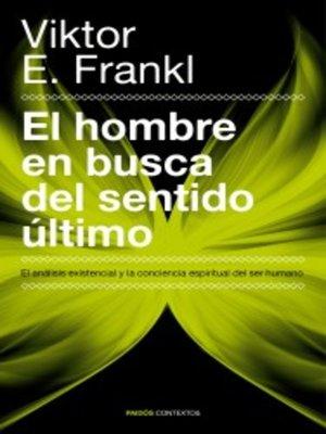 cover image of El hombre en busca del sentido último