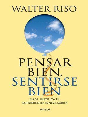 cover image of Pensar bien, sentirse bien