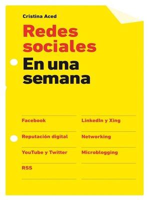 cover image of Redes sociales en una semana