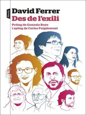 cover image of Des de l'exili