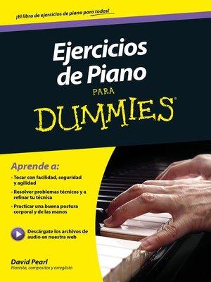 cover image of Ejercicios de piano para Dummies
