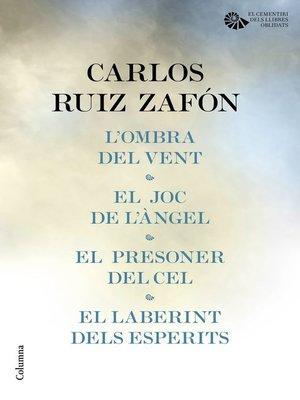 cover image of Tetralogia El Cementiri dels Llibres Oblidats (pack)