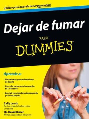 cover image of Dejar de fumar para Dummies
