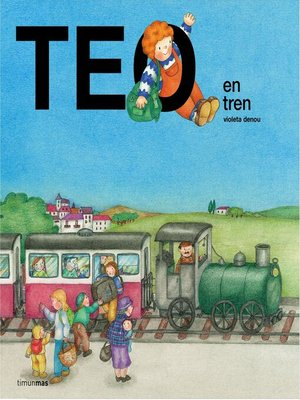 cover image of Teo en tren
