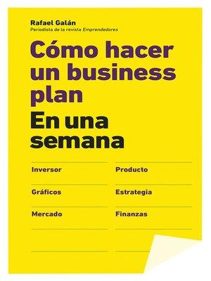 cover image of Cómo hacer un business plan en una semana