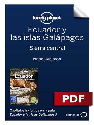 cover image of Ecuador y las islas Galápagos 7_4. Sierra central