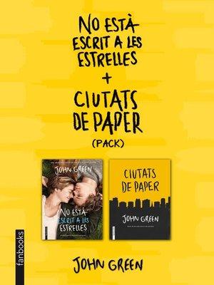cover image of No està escrit a les estrelles + Ciutats de paper (pack)