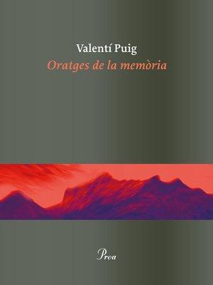 cover image of Oratges de la memòria