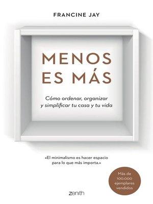 cover image of Menos es más