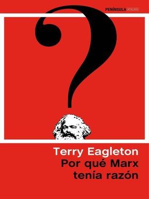 cover image of Por qué Marx tenía razón