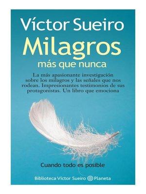 cover image of Milagros mas que nunca