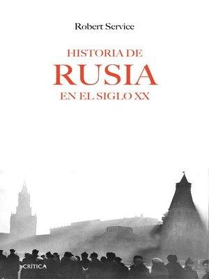 cover image of Historia de Rusia en el siglo XX