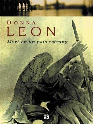 cover image of Mort en un país estrany