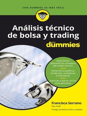 cover image of Análisis técnico de bolsa y trading para Dummies