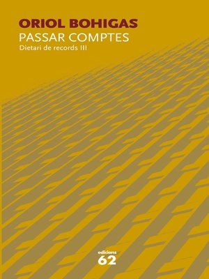 cover image of Passar comptes