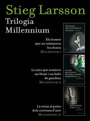 cover image of Trilogia Millennium (pack) (Català)
