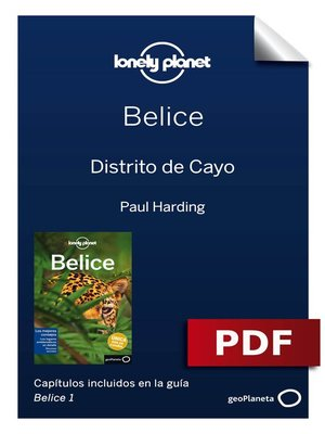 cover image of Belice 1. Distrito de Cayo