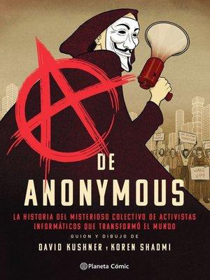 cover image of A de Anonymous (novela gráfica)