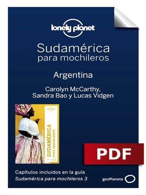 cover image of Sudamérica para mochileros 3. Argentina