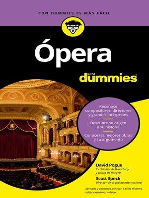 cover image of Ópera para Dummies