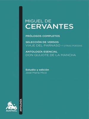 cover image of Miguel de Cervantes. Antología
