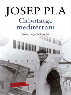 cover image of Cabotatge mediterrani
