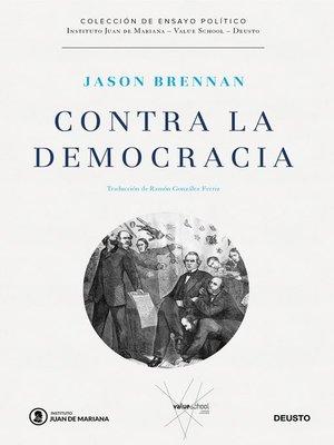 cover image of Contra la democracia