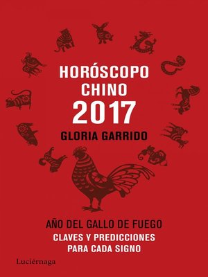 cover image of Horóscopo chino 2017