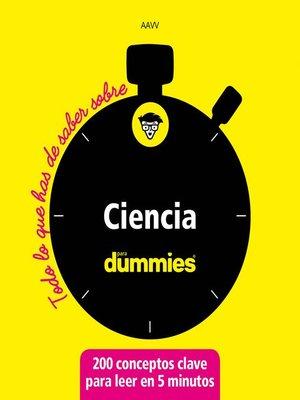 cover image of Ciencia para dummies