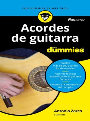 cover image of Acordes de guitarra flamenco para Dummies