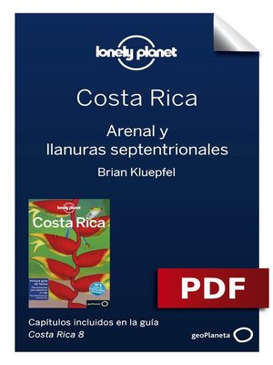cover image of Costa Rica 8_6. Arenal y llanuras septentrionales