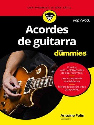 cover image of Acordes de guitarra pop/rock para Dummies
