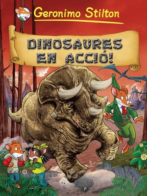cover image of Dinosaures en acció !
