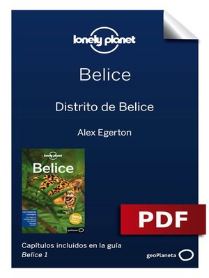cover image of Belice 1. Distrito de Belice