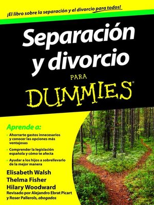 cover image of Separación y divorcio para Dummies