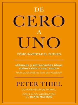 cover image of De cero a uno
