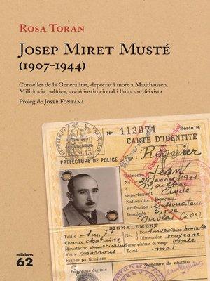 cover image of Josep Miret Musté (1907-1944)