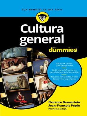 cover image of Cultura general para Dummies