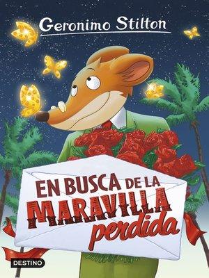 cover image of En busca de la maravilla perdida
