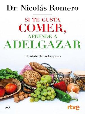 cover image of Si te gusta comer, aprende a adelgazar