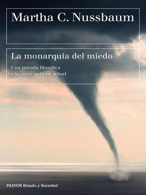 cover image of La monarquía del miedo