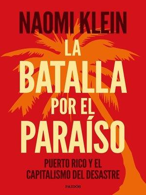 cover image of La batalla por el paraíso