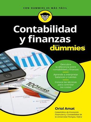 cover image of Contabilidad y finanzas para Dummies