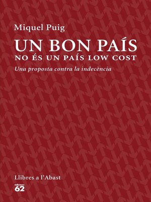 cover image of Un bon país no és un país low cost