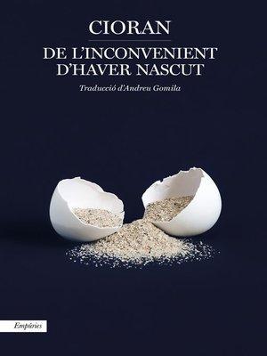 cover image of De l'inconvenient d'haver nascut