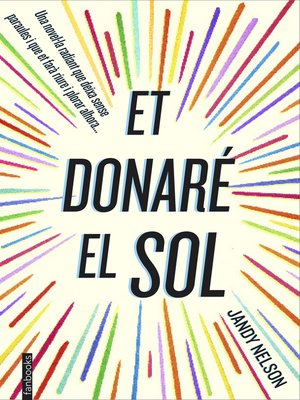 cover image of Et donaré el sol