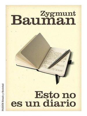cover image of Esto no es un diario