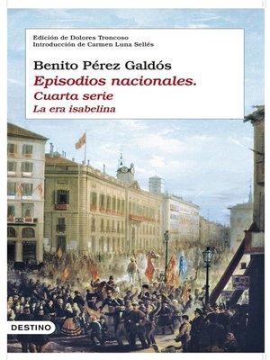 cover image of Episodios nacionales. Cuarta serie